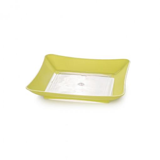 Prato de Plástico de Sobremesa Neon