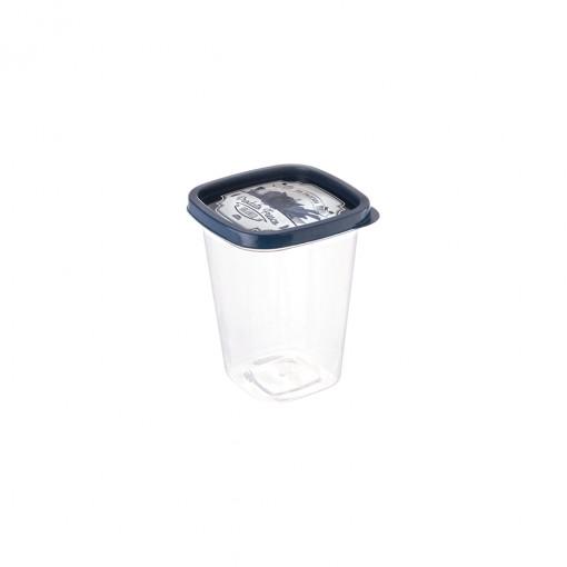 Pote de Plástico Quadrado 950 ml Clic Fazenda