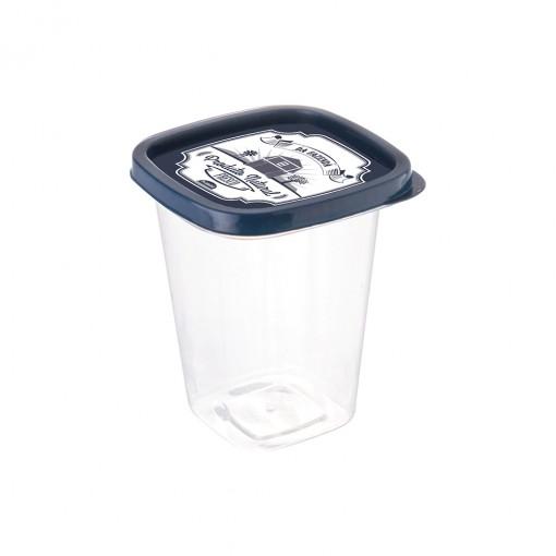 Pote de Plástico Quadrado 360 ml Clic Fazenda