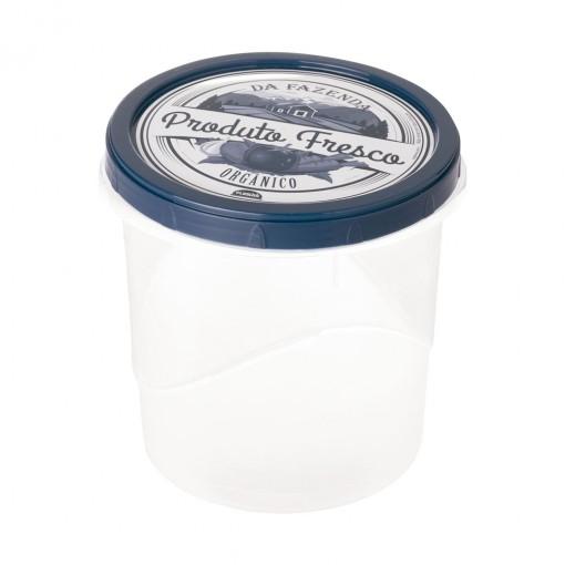 Pote de Plástico Redondo 1,8 L Rosca Fazenda