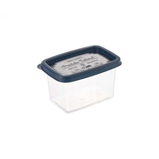 Pote de Plástico Retangular 430 ml Clic Fazenda