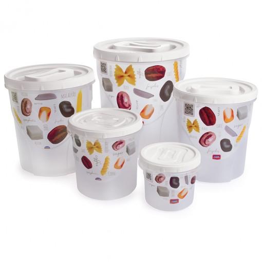 Conjunto de Potes para Mantimentos - 5 Unidades | Rosca