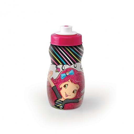 Garrafa Squeeze de Plástico 300 ml com Tampa Rosca Moranguinho