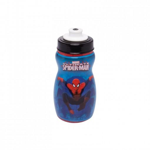 Garrafa Squeeze de Plástico 300 ml com Tampa Rosca Homem Aranha