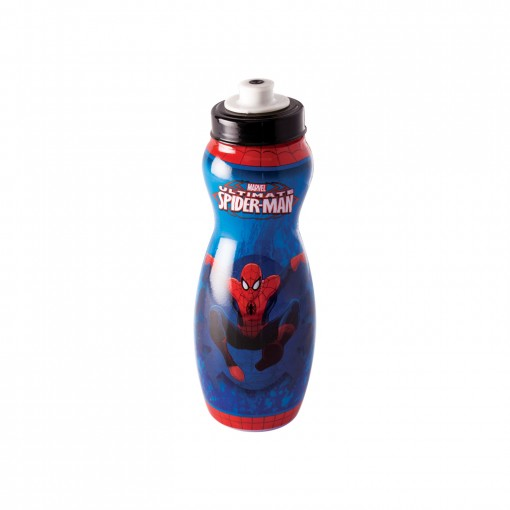 Garrafa Squeeze de Plástico 600 ml com Tampa Rosca Homem Aranha