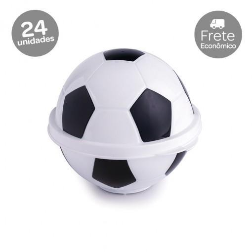Conjunto de Potes de Plástico com Tampa Fixa em Formato de Bola de Futebol 24 Unidades