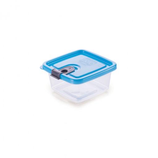 Pote de Plástico Retangular 210 ml com Tampa Fixa e Trava Trio