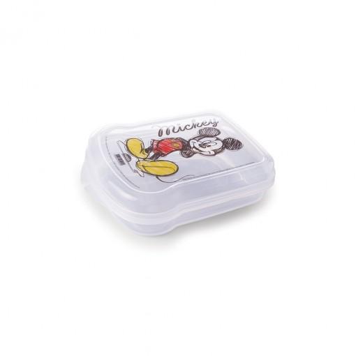 Sanduicheira de Plástico com Tampa Fixa Mickey