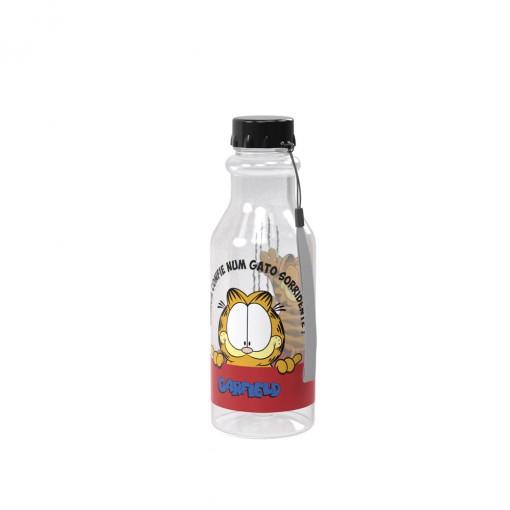 Garrafa de Plástico 500 ml com Tampa Rosca Retrô Garfield