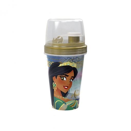 Mini Shakeira de Plástico 320 ml com Misturador, Fechamento Rosca e Sobretampa Articulável Aladdin