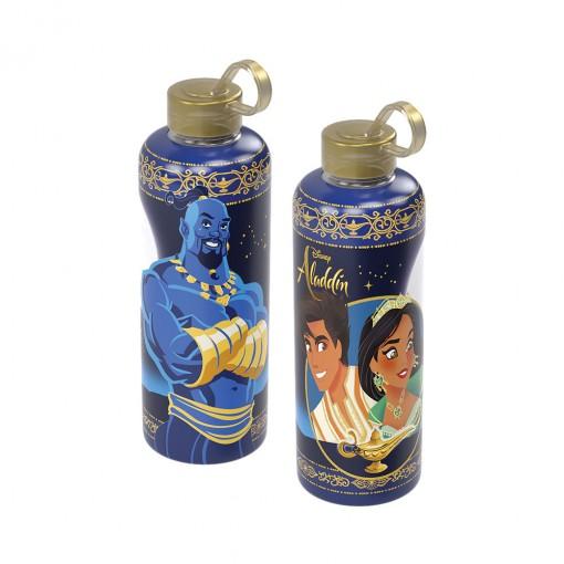 Garrafa de Plástico 480 ml com Tampa Rosca e Pegador Fixo Cilíndrica Aladdin