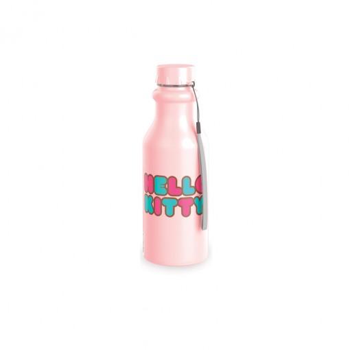 Garrafa de Plástico 500 ml com Tampa Rosca Retrô Hello Kitty
