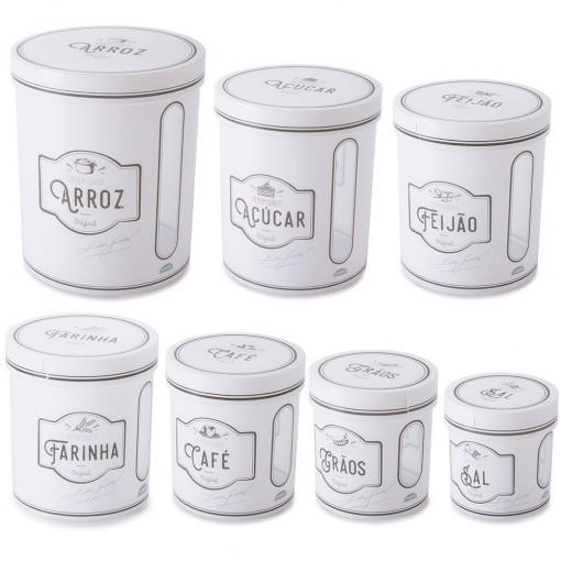 Conjunto de Caixas de Plástico Redondas para Mantimentos Edu 7 Unidades