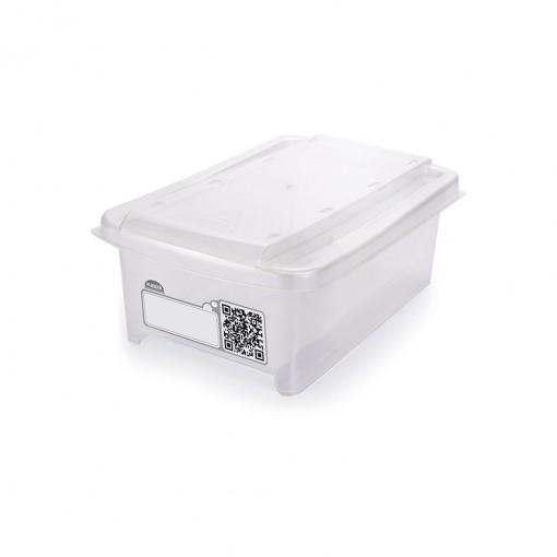 Caixa de Plástico Retangular Organizadora 1,2 L com Tampa Empilhável Mini
