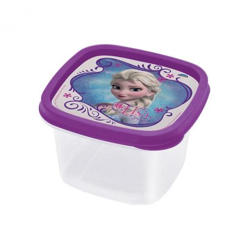 Pote de Plástico Quadrado 500 ml Clic Frozen