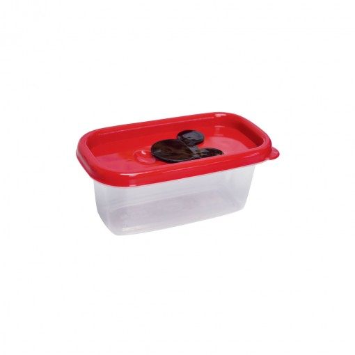 Pote de Plástico Retangular 150 ml com Válvula Clic Mickey