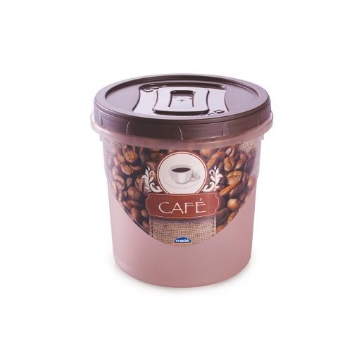 Pote de Plástico Redondo para Café 1,8 L Mantimentos Rosca