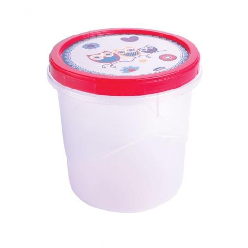 Pote de Plástico Redondo 1,8 L Rosca Coruja