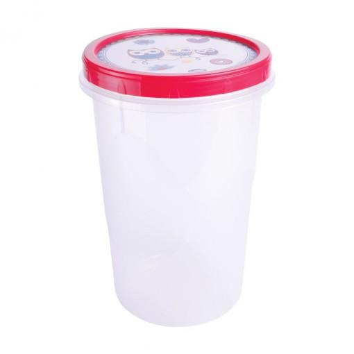 Pote de Plástico Redondo 2,6 L Rosca Coruja