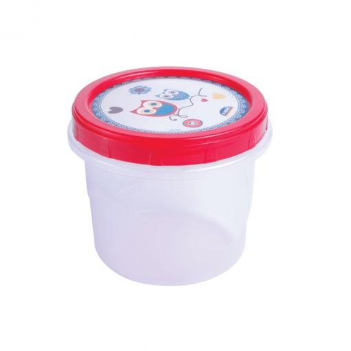 Pote de Plástico Redondo 720 ml Rosca Camomila