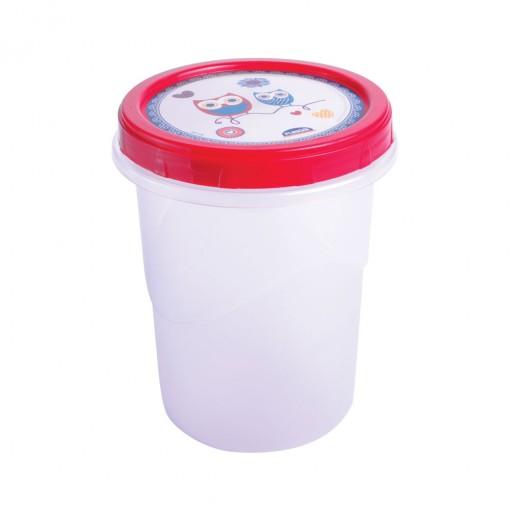 Pote de Plástico Redondo 1 L Rosca Camomila