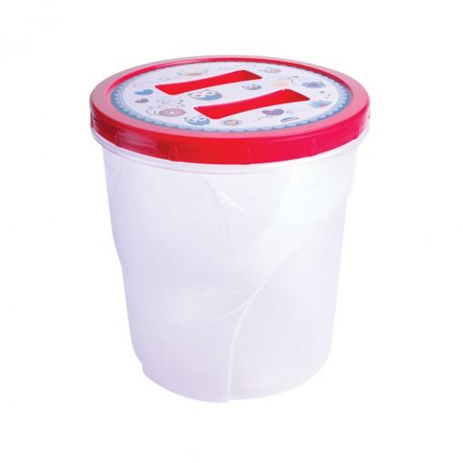 Pote de Plástico Redondo 3,2 L Rosca Coruja