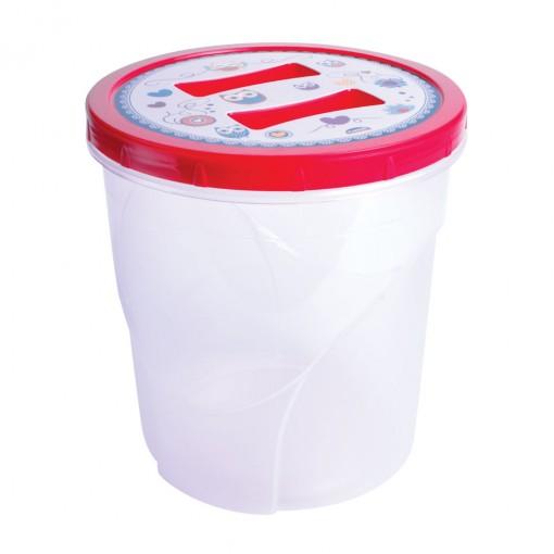 Pote de Plástico Redondo 4,5 L Rosca Coruja