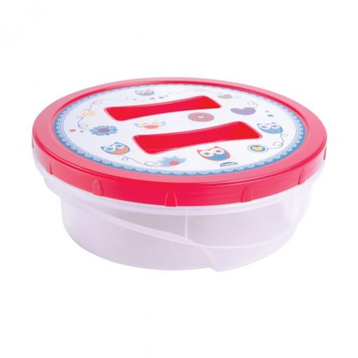 Pote de Plástico Redondo 2,1 L Rosca Coruja