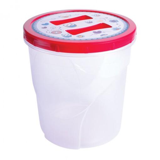 Pote de Plástico Redondo 7,6 L Rosca Coruja