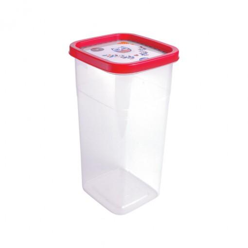 Pote de Plástico Retangular 1,74 L Clic Coruja