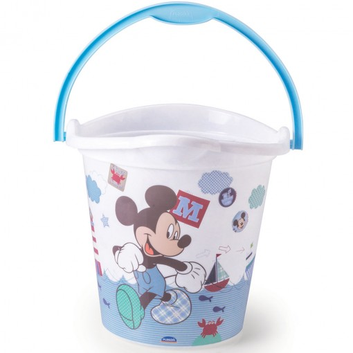 Balde de Plástico 8 L com Alça Mickey Baby