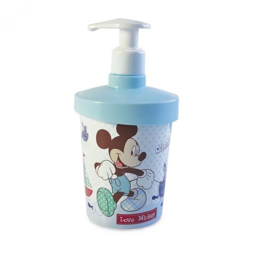 Porta Sabonete Líquido de Plástico 360 ml Mickey Baby