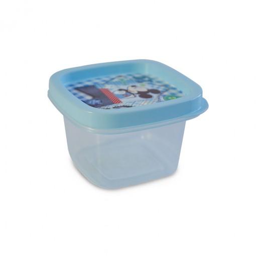 Pote de Plástico Quadrado 200 ml Mickey Baby Clic