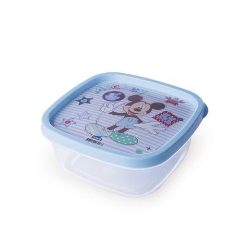Pote de Plástico Quadrado 580 ml Mickey Baby Clic