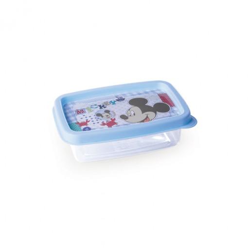Pote de Plástico Retangular 180 ml Mickey Baby Clic