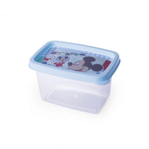 Pote de Plástico Retangular 430 ml Mickey Baby Clic