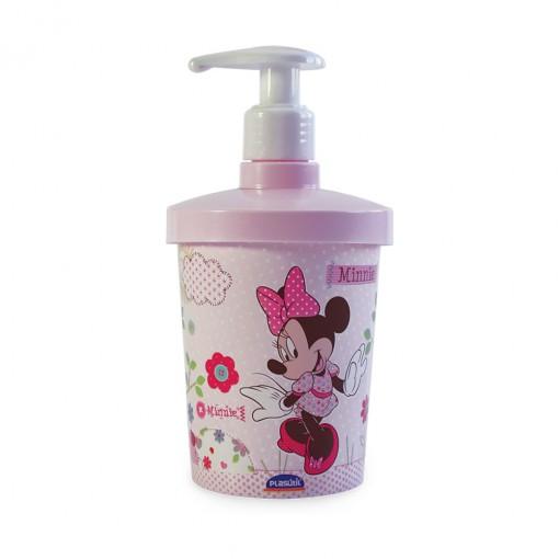 Porta Sabonete Líquido de Plástico 360 ml Minnie Baby