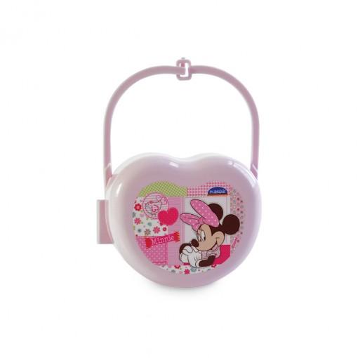Porta Chupeta de Plástico com Alça  Minnie Baby