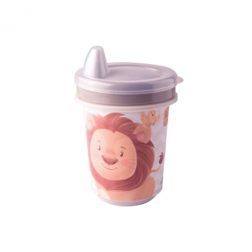 Copo de Plástico 330 ml para Transição com Fechamento Rosca Os Filhotes