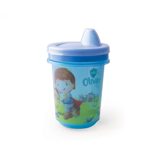 Copo de Plástico 330 ml  para Transição com Fechamento Rosca Oliver
