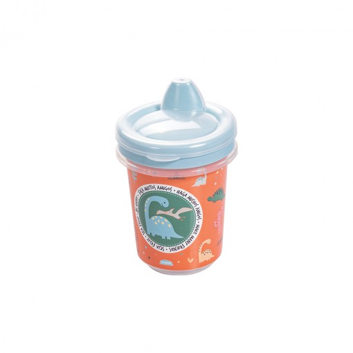 Copo de Plástico 330 ml  para Transição com Fechamento Rosca Dino