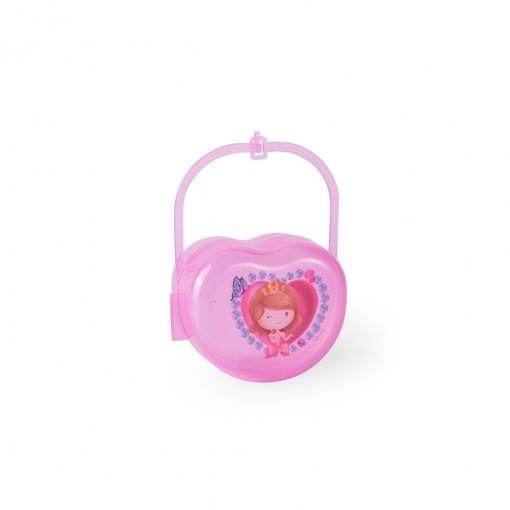 Porta Chupeta de Plástico com Alça Baby Princess
