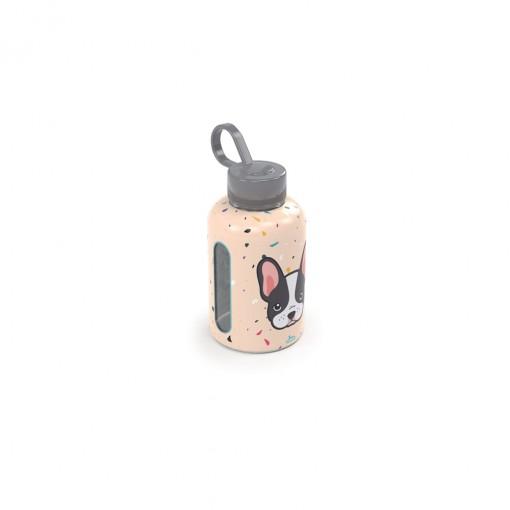 Garrafa de Plástico 280 ml com Tampa Rosca e Pegador Fixo Cilíndrica Cute