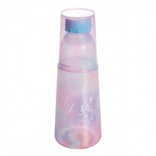 Garrafa Moringa de Plástico 960 ml com Copo Good Vibes
