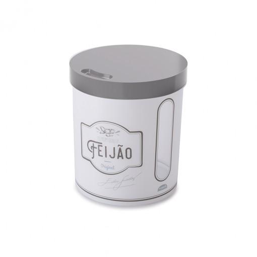 Pote de Plástico Redondo 3,4 L para Feijão Edu Guedes