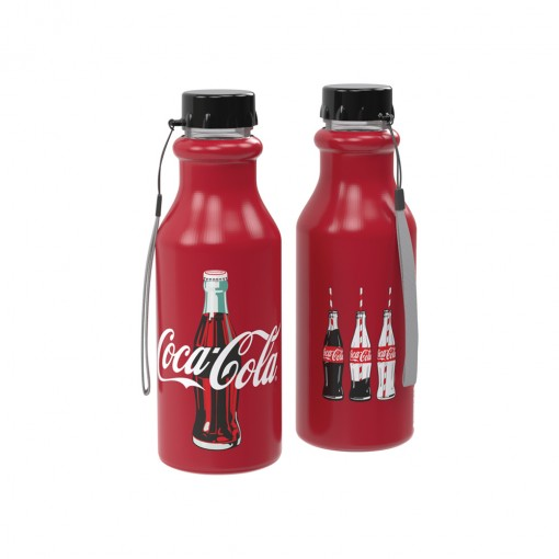 Garrafa de Plástico 500 ml com Tampa Rosca Retrô Coca Cola