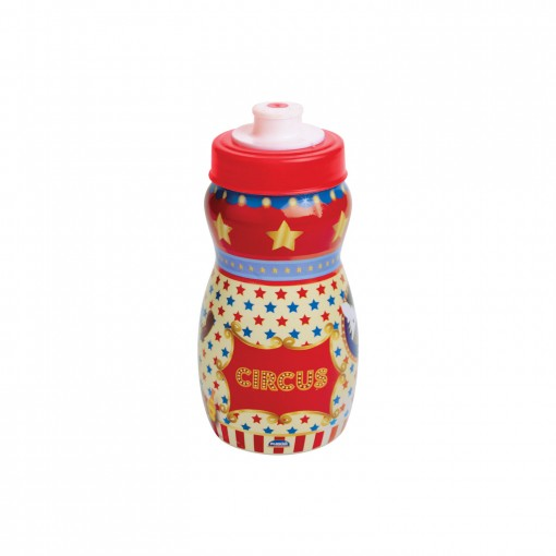 Garrafa Squeeze de Plástico 300 ml com Tampa Rosca Circo