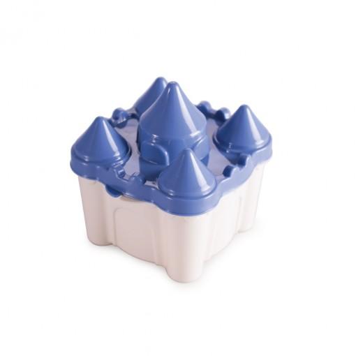Pote de Plástico com Tampa Fixa em Formato de Castelo