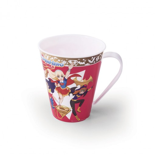 Caneca de Plástico 360 ml Super Hero Girls