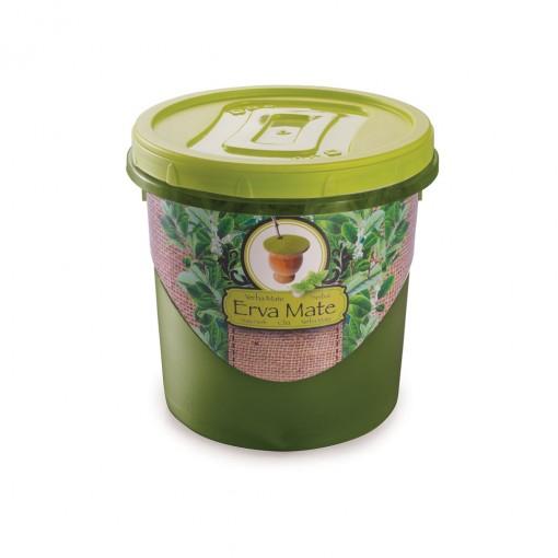 Pote de Plástico Redondo para Erva Mate 1,8 L Mantimentos Rosca